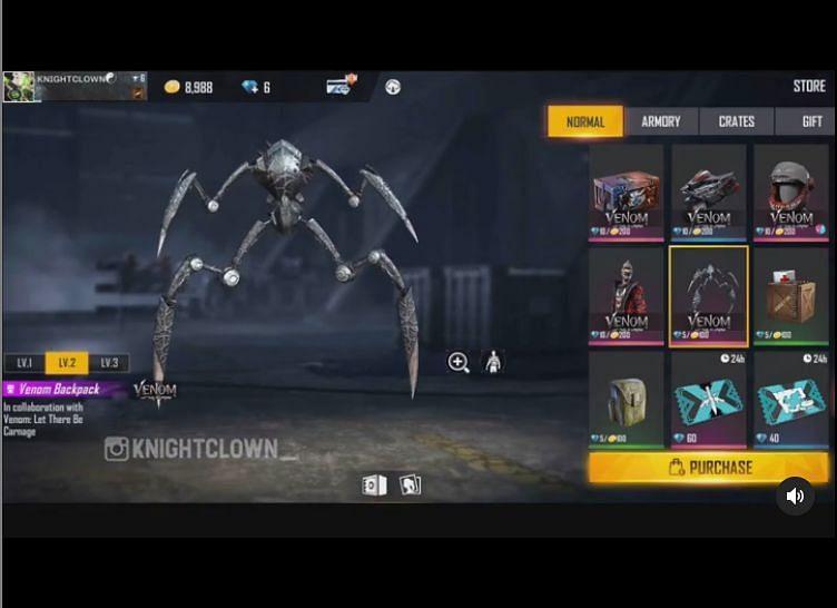 Venom Backpack (Image via Knight Clown; Instagram)