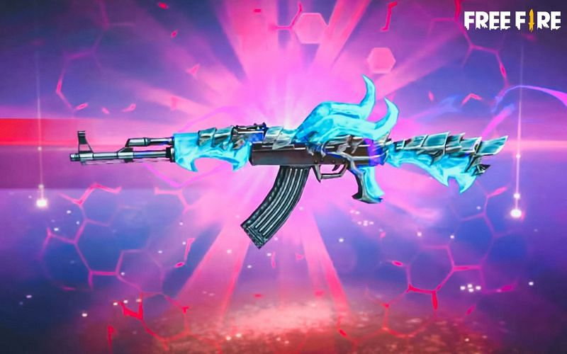 Free Fire players can get the Blue Flame Draco AK skin for free (Image via Free Fire)