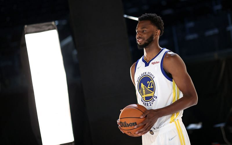 Andre Wiggins at Golden State Warriors Media Day