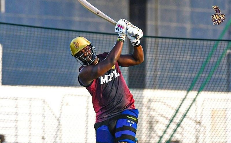Andre Russell during a recent training session [Credits: KKR]