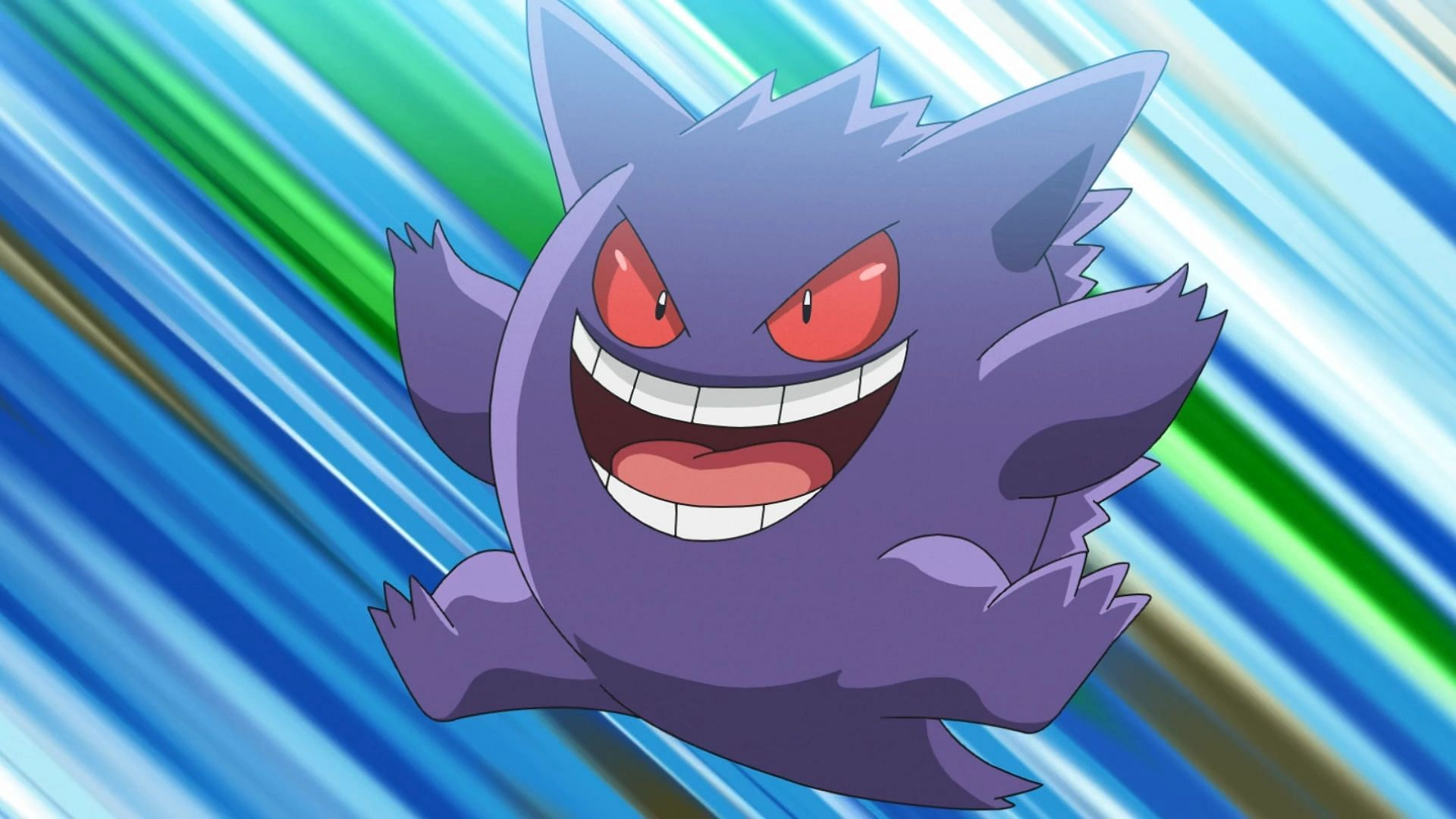 Gengar as it appears in the anime (Image via The Pokemon Company)