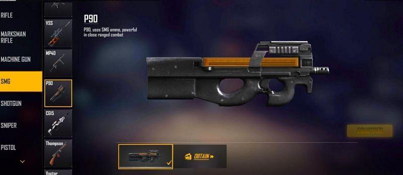 P90 (Image via Free Fire MAX)
