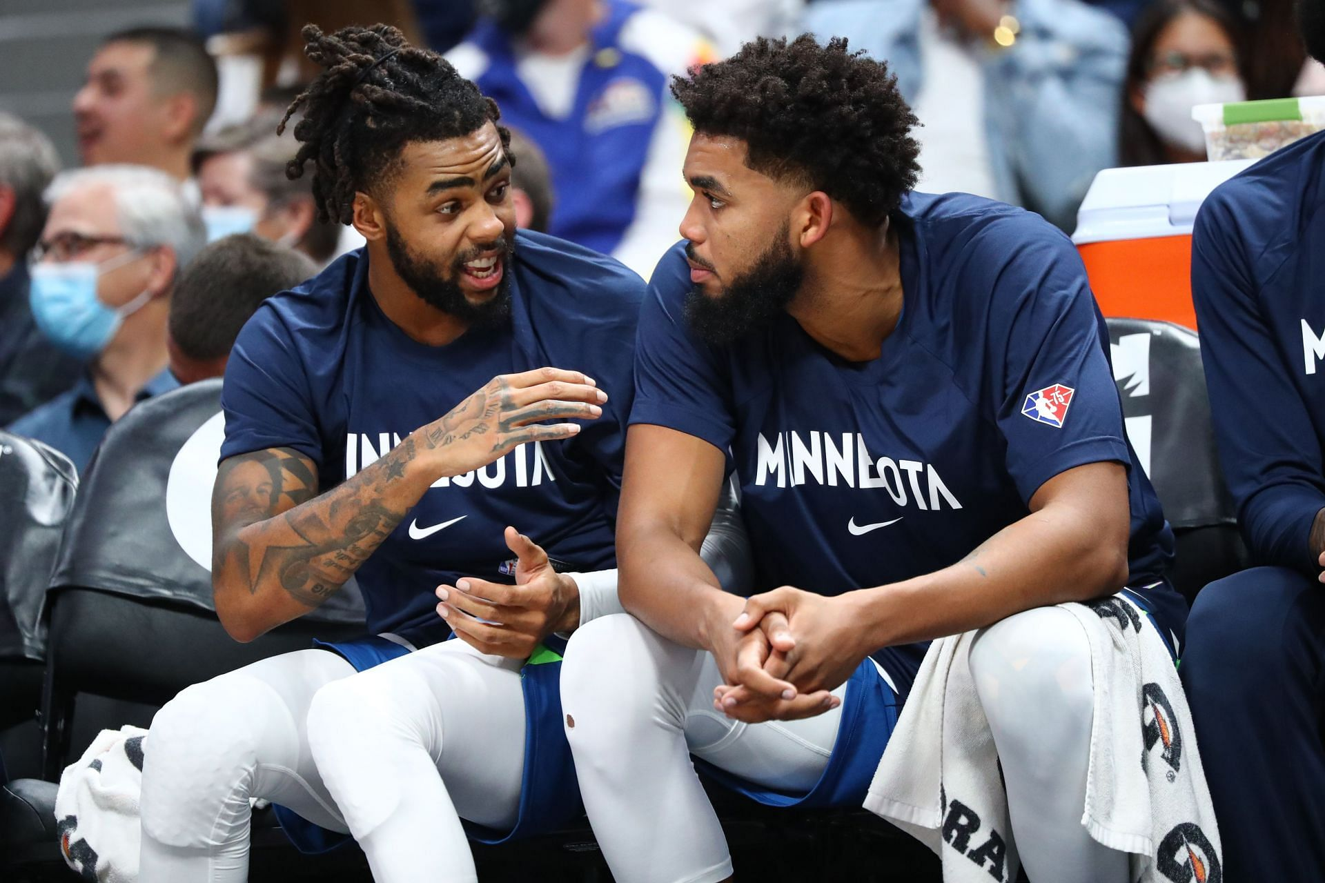 The Minnesota Timberwolves in a game against the Denver Nuggets