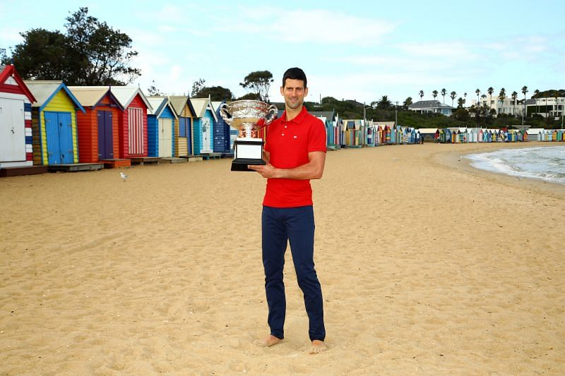 2021 Australian Open champion Novak Djokovic
