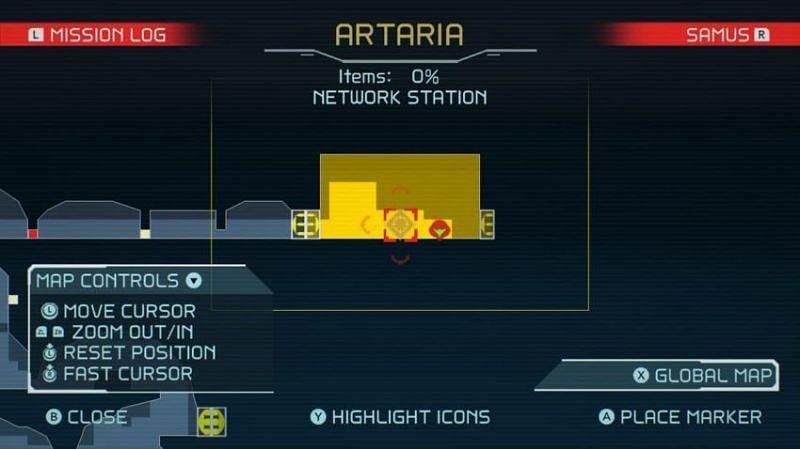 La stazione di rete è contrassegnata sulla mappa.  (Immagine tramite Nintendo)