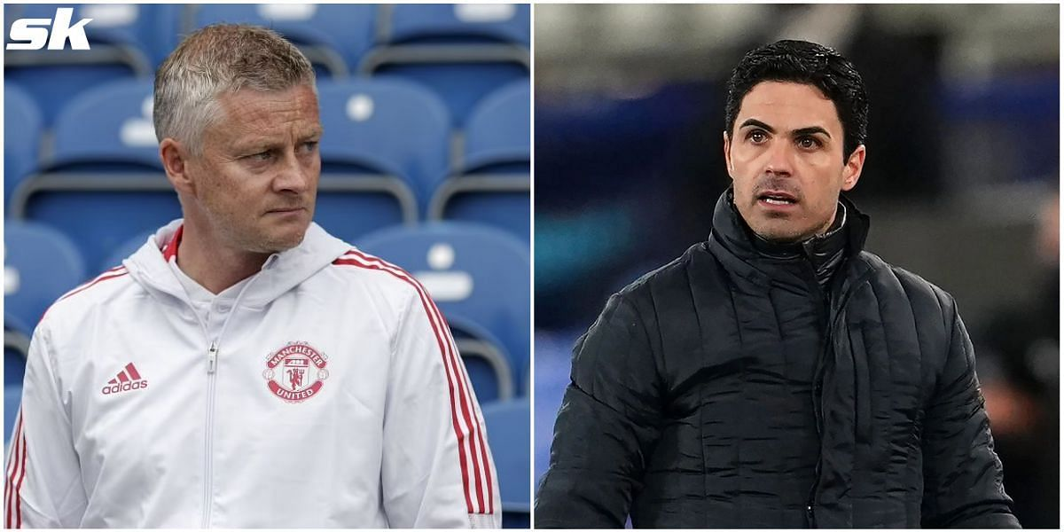 Manchester United manager Ole Gunnar Solskjaer (left) and Arsenal manager Mikel Arteta