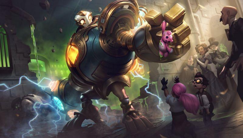 Victorious Blitzcrank (Image via League of Legends)
