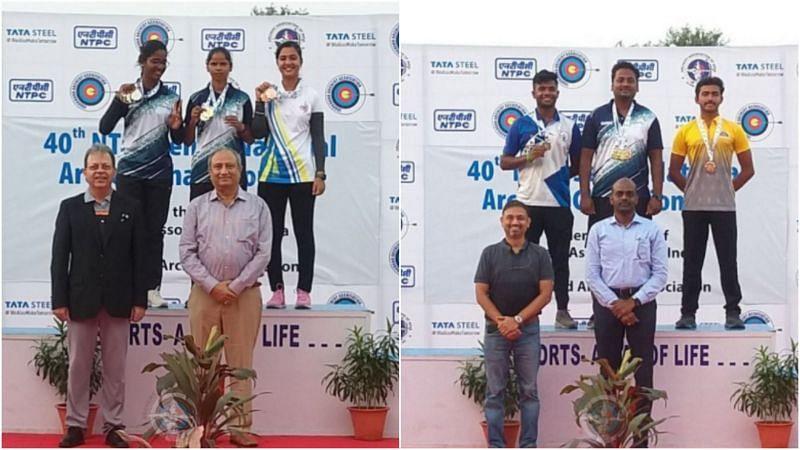 Parth Salunkhe, Dipti Kumari win medals at the NTPC National Archery Championships (Pic Credit: NTPC)