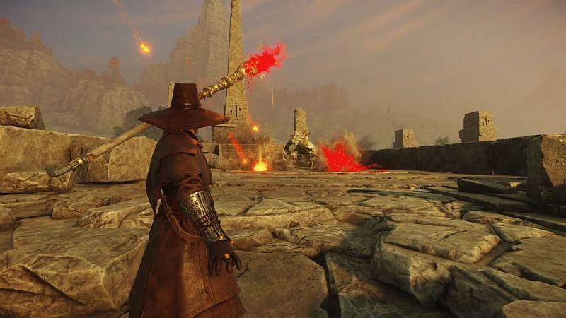 Un bombero en el Nuevo Mundo.  (Imagen a través de Amazon Games)