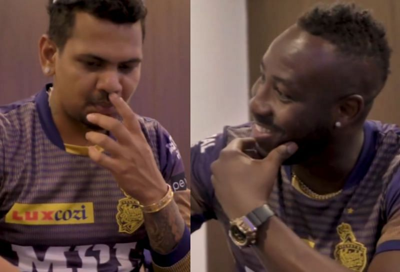 Sunil Narine(l) and Andre Russell(r). (Image: KKR Instagram)