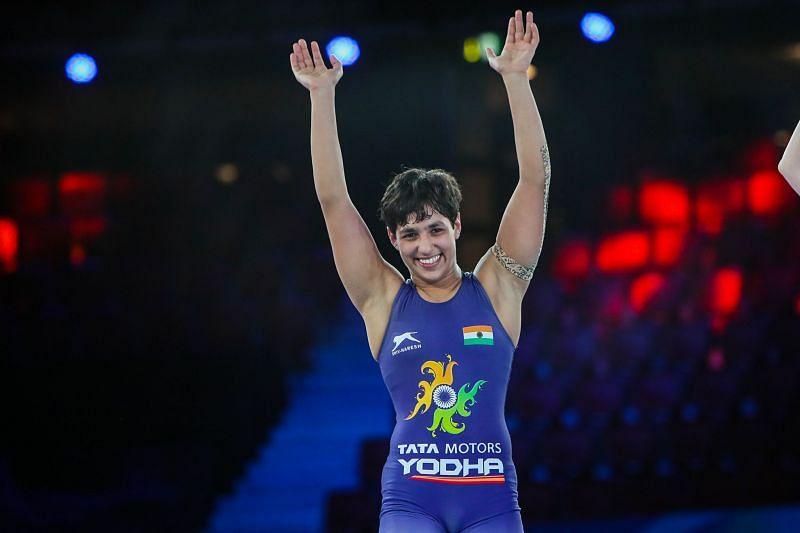 Anshu Malik wins silver medal at the World Championships. (UWW/ Martin Gabor)