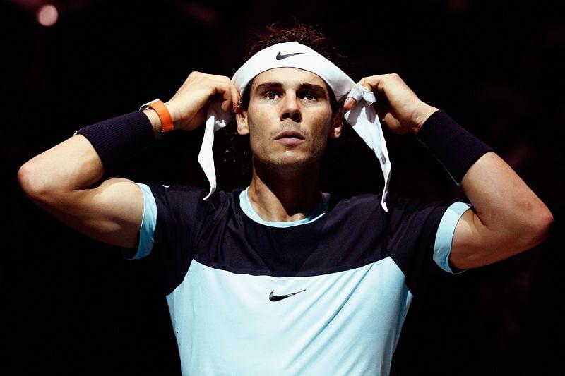 Rafael Nadal at the 2015 Paris Masters