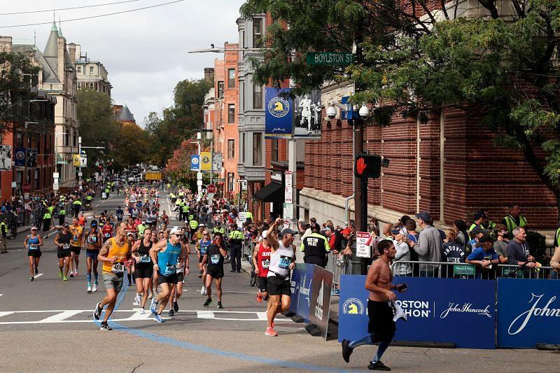 Nitendra Singh Rawat took part in the 125th edition of the Boston Marathon.
