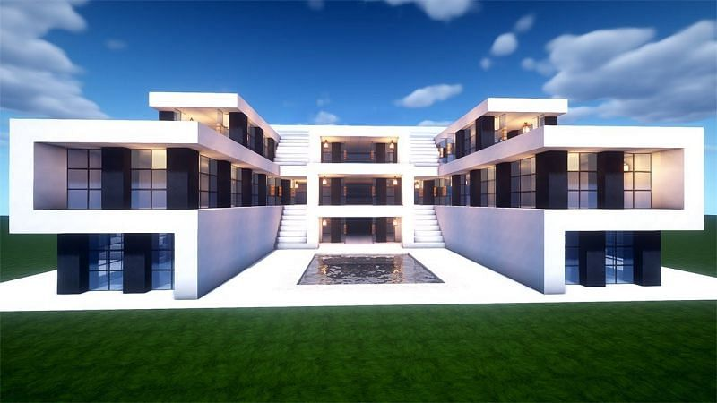 Minecraft modern house designs have become a popular craze of sorts (Image via YouTube, Juns Mab)