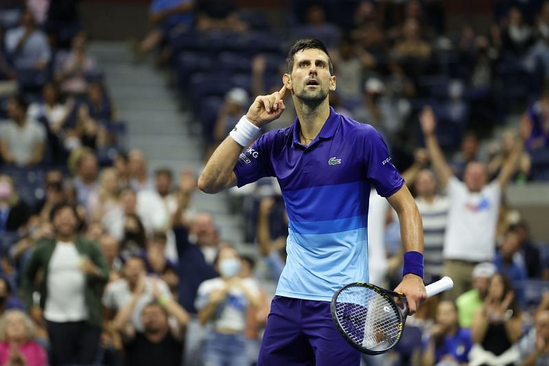 Novak Djokovic at the center of applause in the 2021 US Open