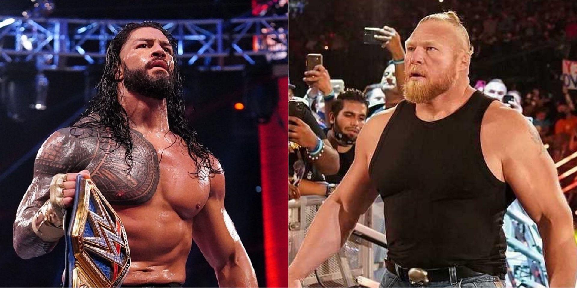 WWE Crown Jewel में रोमन रेंस और ब्रॉक लैसनर के बीच धमाकेदार मैच होगा