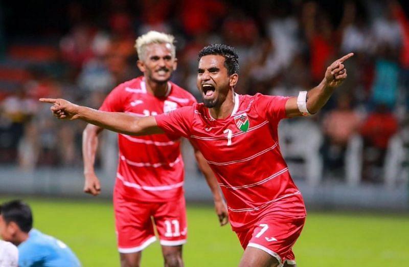 Ali Ashfaq is Maldives' main man on the pitch