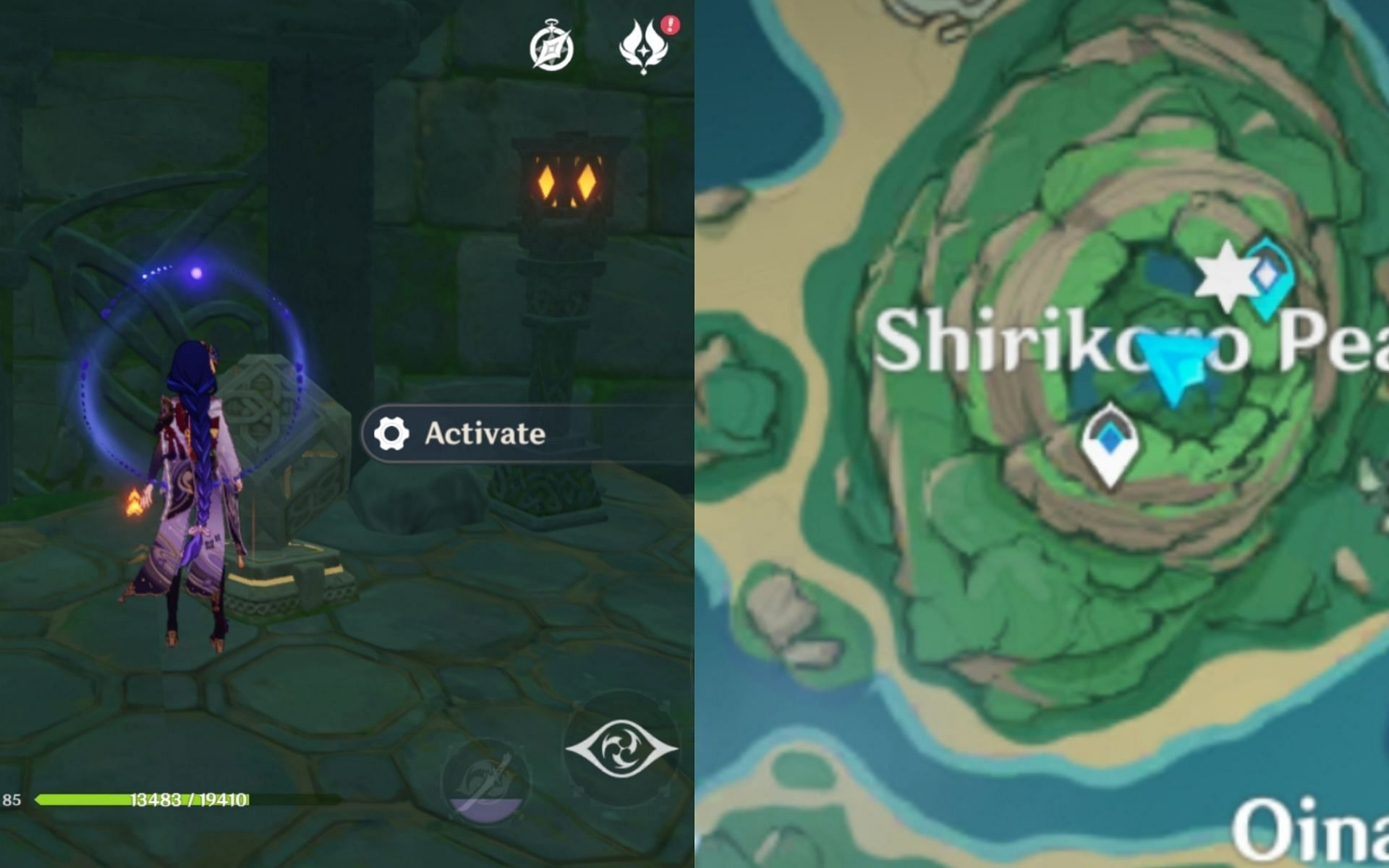 The perch's location on the map (Image via Genshin Impact)