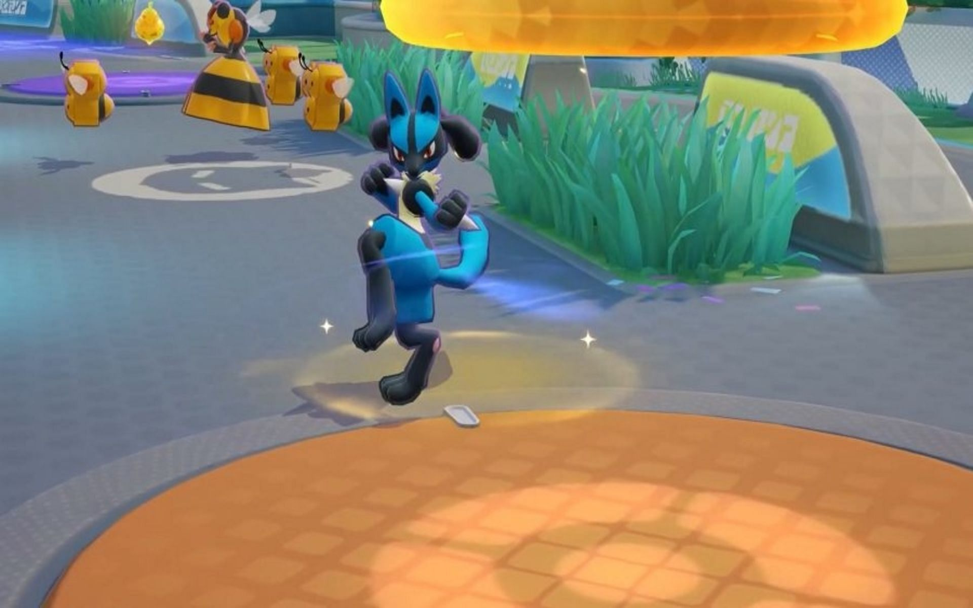 Lucario can use Power-Up Punch to steal Combee and Vespiqueen easily (Image via TiMi Studios)