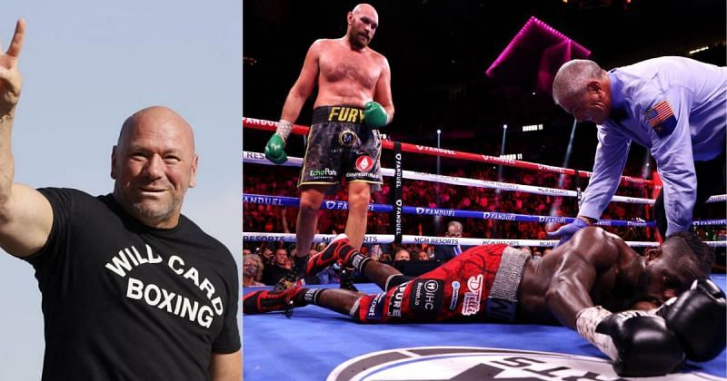 UFC president Dana White praised the heavyweight boxing title fight between Tyson Fury and Deontay Wilder