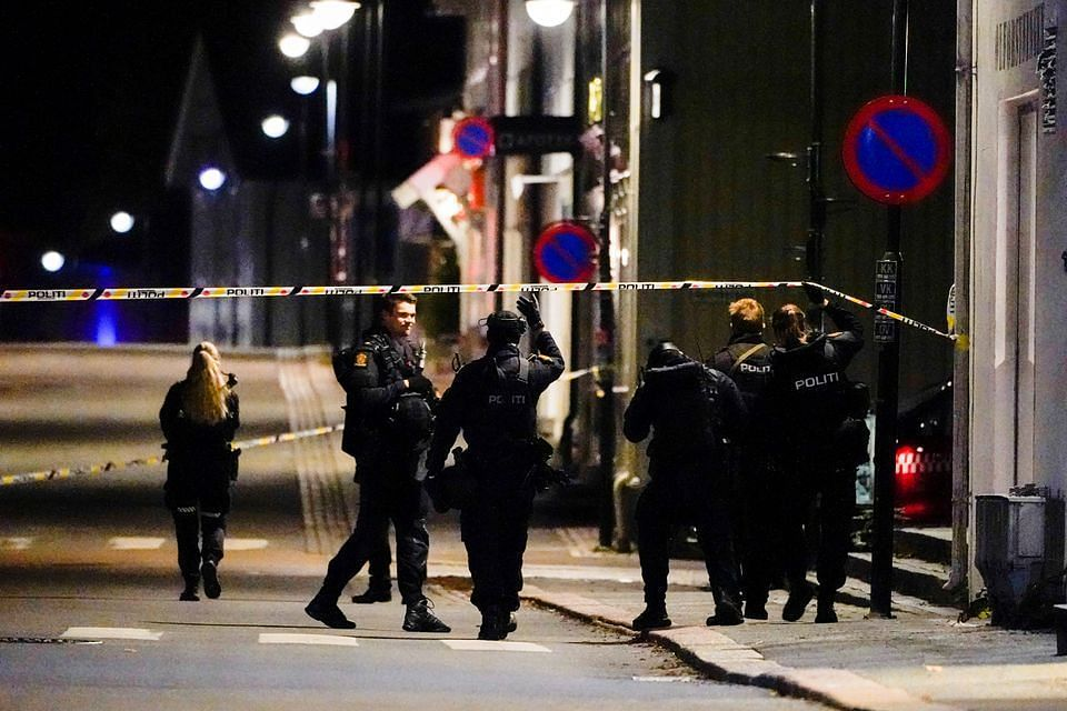 Five killed in bow and arrow attack in Norway (Image via Hakon Mosvold/NTB/REUTERS)