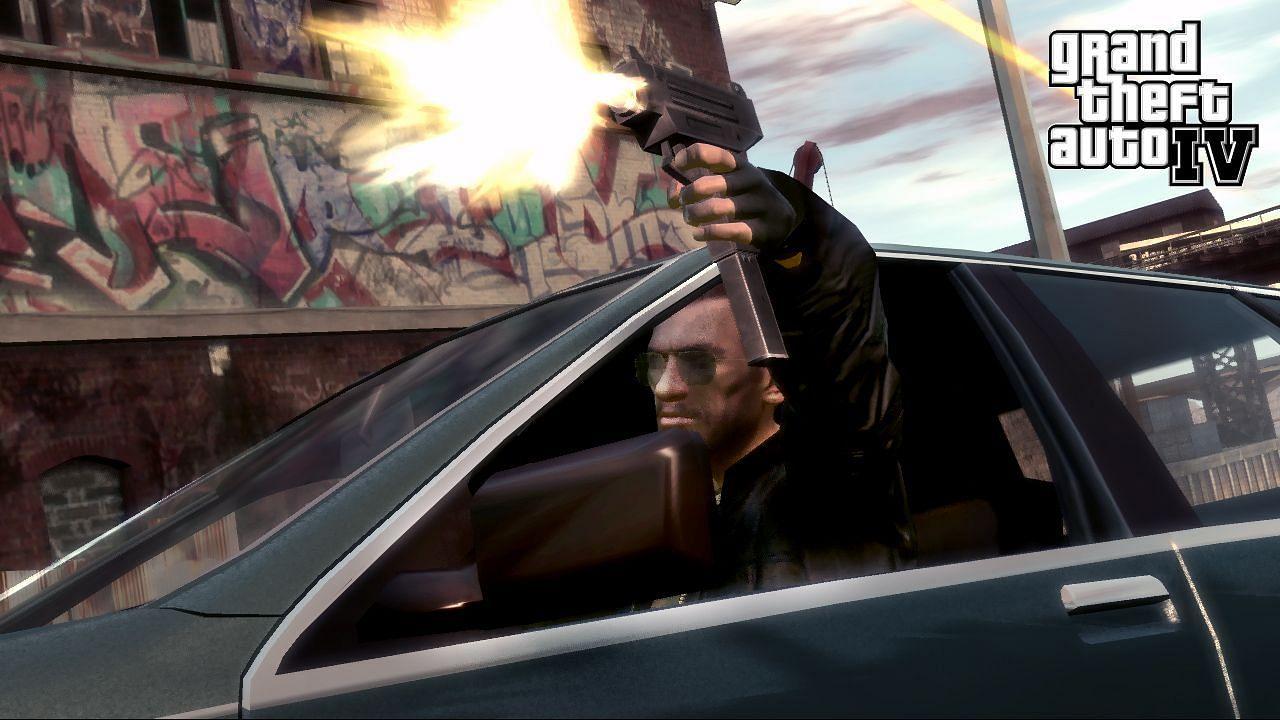 GTA 4 had better Drive-By shooting controls (Image via Rockstar Games)