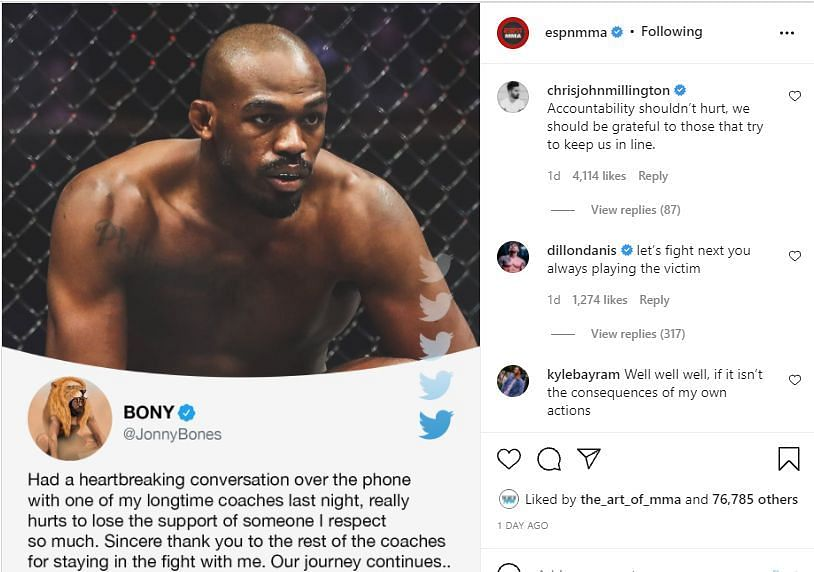 Dillon Danis takes a jibe at Jon Jones, calls him out for a fight