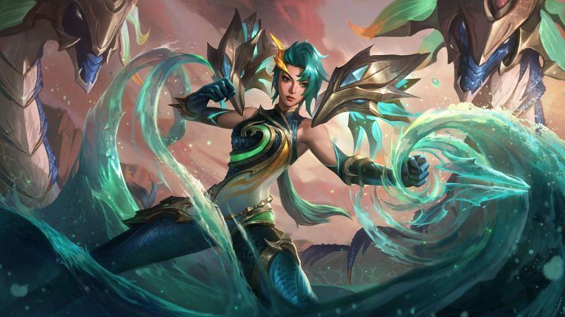 Lagoon Dragon Kai'Sa (Image via League of Legends)