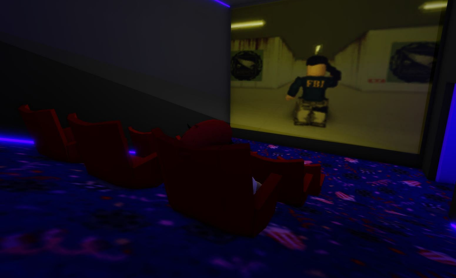 Find and watch a top-secret movie about Brookhaven (Image via Roblox)