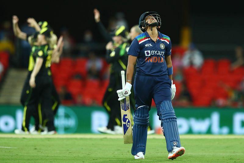 Shafali Verma during the Australia v India: T20 Series - Game 3.