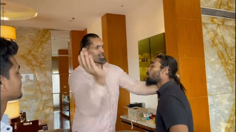 The Great Khali was clearly upset about being interrupted