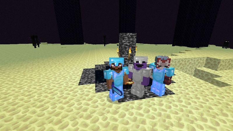A group of Minecraft friends (Image via Reddit)