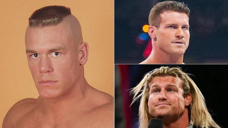 John Cena (left); Dolph Ziggler (right)
