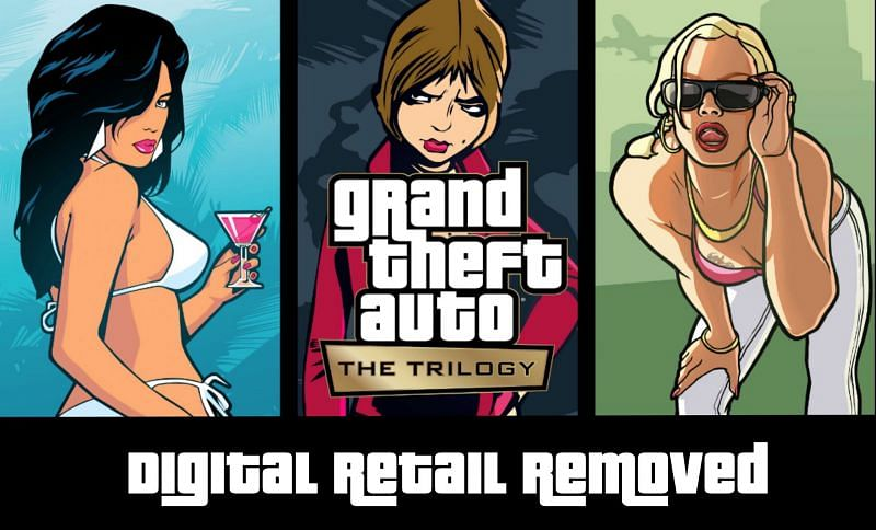Removal of digital retail in anticipation of the upcoming GTA Trilogy (Image via Sportskeeda)