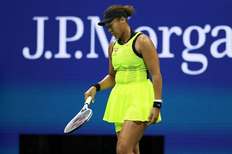 Naomi Osaka at the 2021 US Open, where she lost in the third round