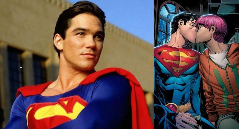 Dean Cain as Clark Kent and Jon Kent in comics (Image via ABC, and DC)