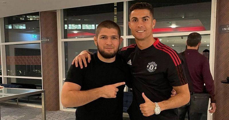 Khabib Nurmagomedov (left) & Cristiano Ronaldo (right) [Image Credits- @khabib_nurmagomedov on Instagram]