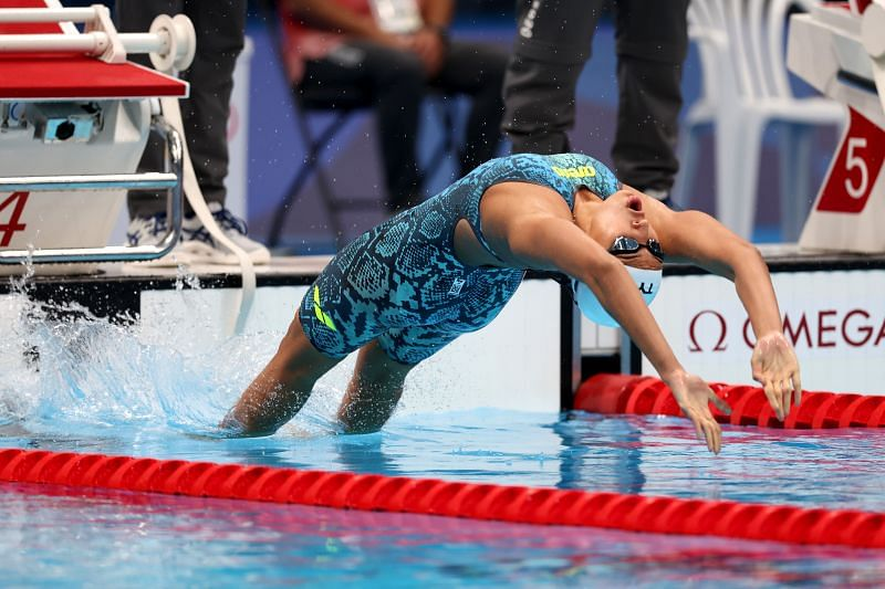 Maana Patel in action at the Tokyo Olympics