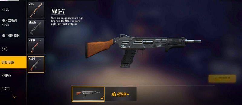 MAG-7 (Image via Free Fire MAX)
