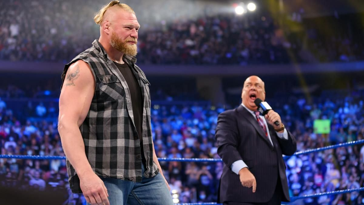 8-time Champion sends a message to Brock Lesnar following his suspension on WWE SmackDown - Sportskeeda
