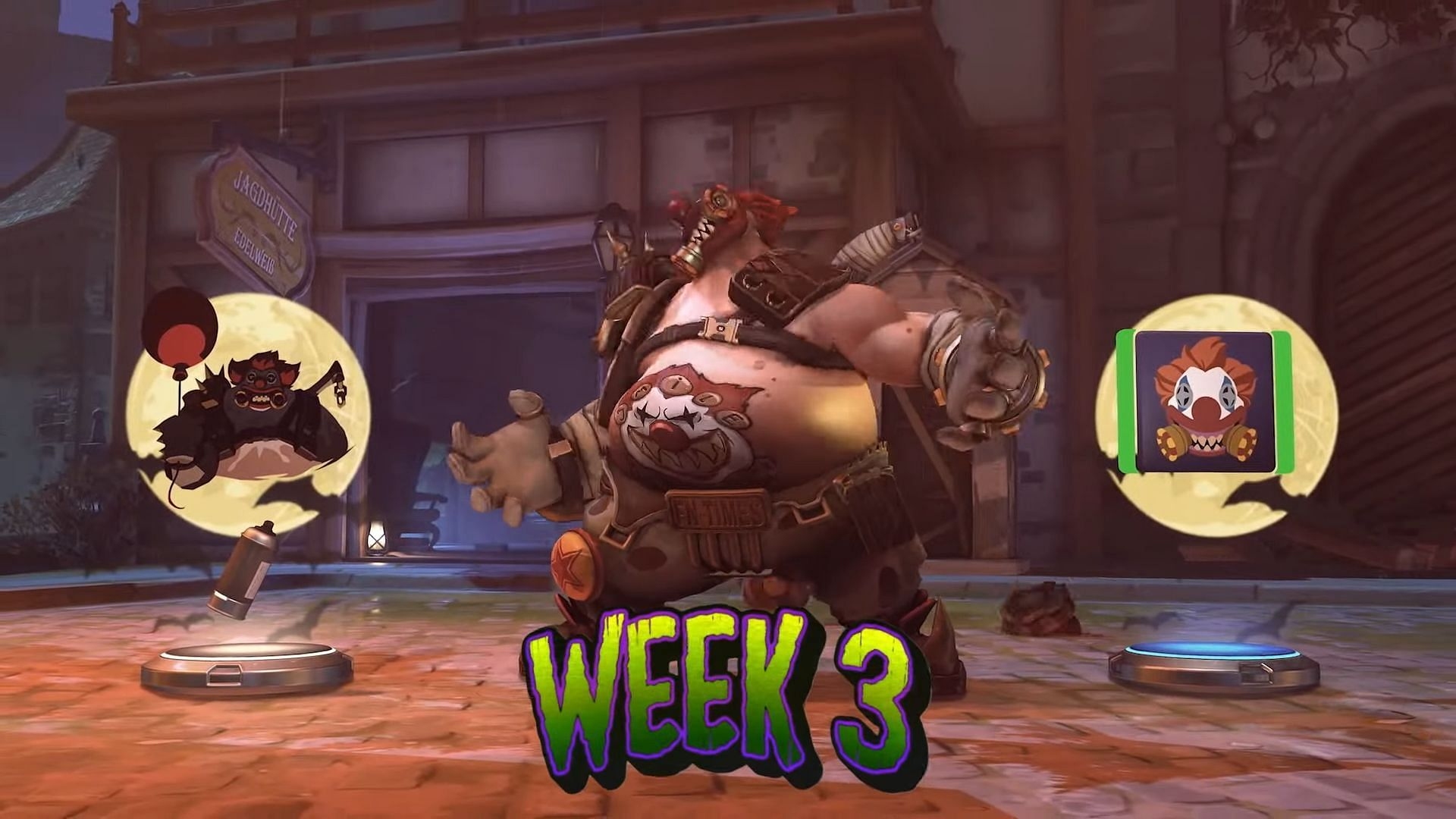 Roadhog rounds out the Halloween event. (Image via Blizzard)