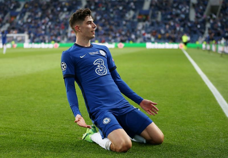 Kai Havertz's goal helped Chelsea win the Champions League. (Photo by Jose Coelho - Pool/Getty Images)