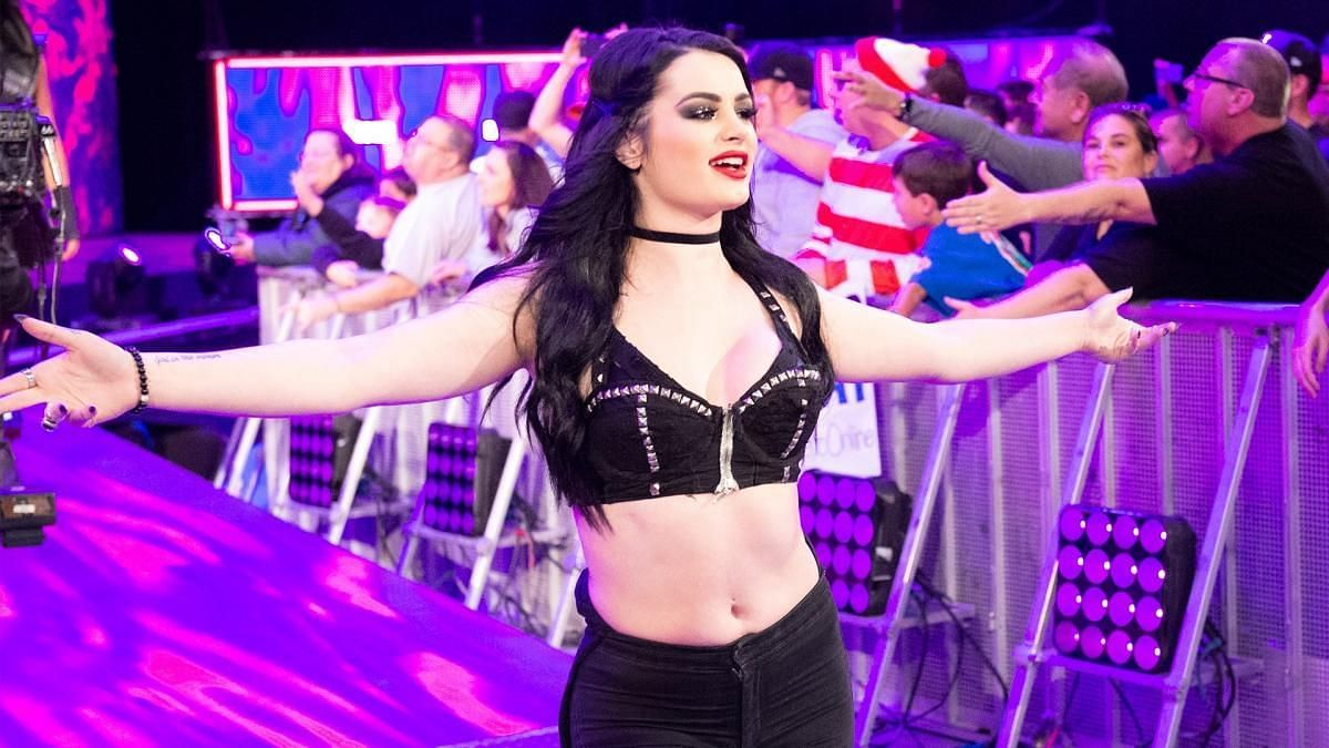 Former NXT and Divas Champion Paige making her entrance in WWE