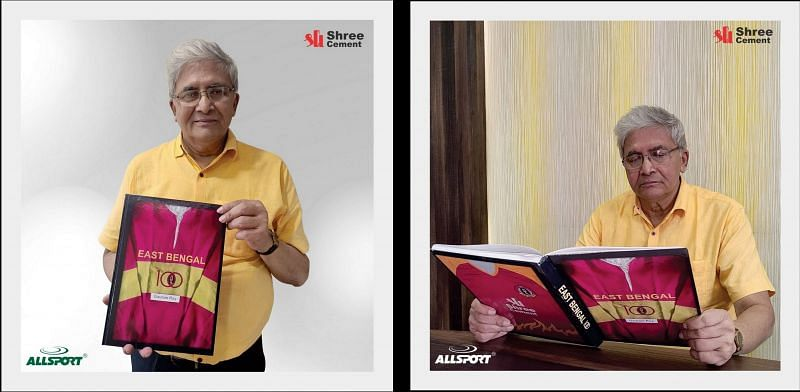 """""""I dedicate this book to the East Bengal fans"""": Gautam Roy (Courtesy - SC East Bengal)"""