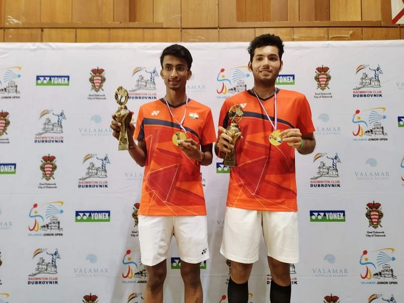 Ayush Agarwal (L) and Tushar Gagneja upset second seeds Yohan Barbieri and Loan Peillet in final
