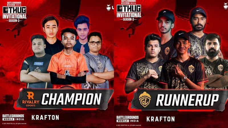 Rivalry was crowned the THUG BGMI Invitational Season 3 champion (Image via Villager Esports )