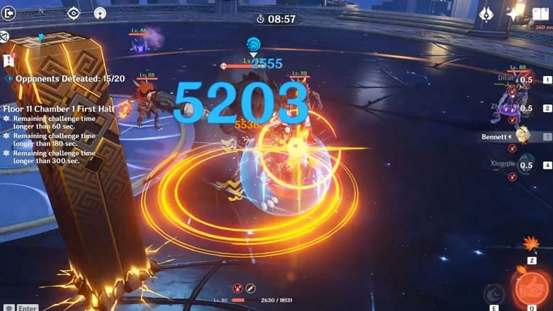 Bennett has low HP (Image via Genshin Impact)