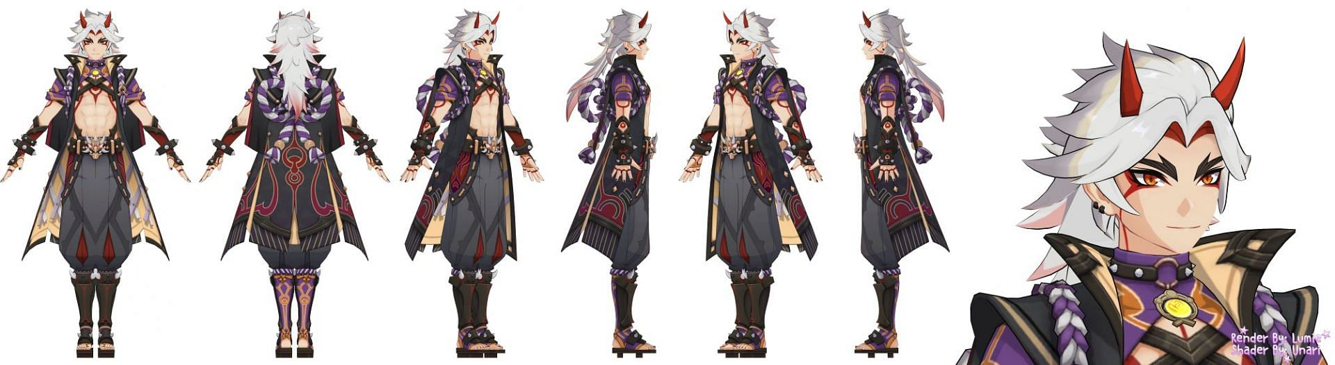 Itto's character model (Image via lumie_lumie)