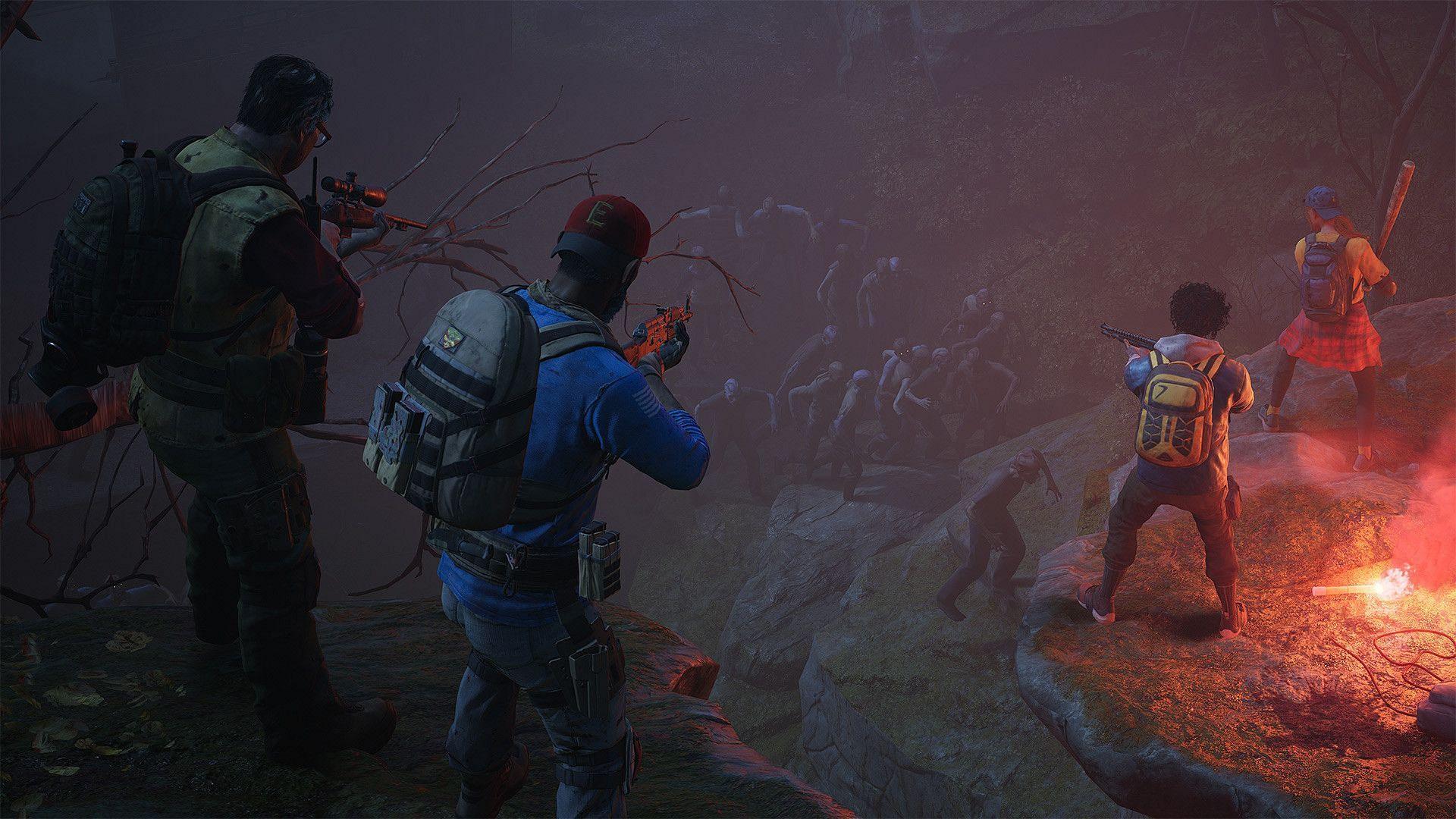 Cleaners defending against zombies (Image via Turtle Rock Studios)