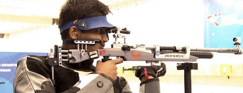 Rudrankksh Patil won silver in 10m air rifle. (©NRAI/Twitter)